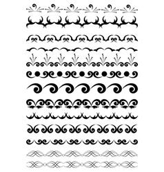 black geometric elements for design vector image vector image
