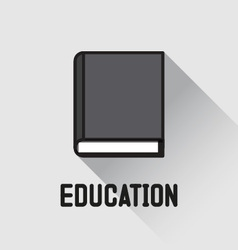 Book icon education concept vector image vector image