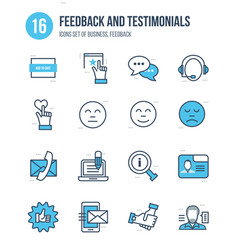 Business feedback and testimonials vote liked vector