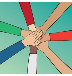 Cohesive team of people vector image vector image