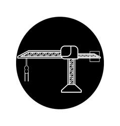 Crane construction icon vector