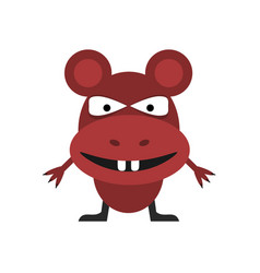 Cute red mouse vector