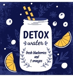 Detox fat flush water recipe vector
