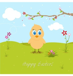Easter Chicken Searching Eggs vector image