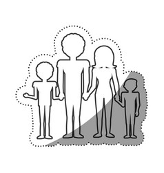 family people concept outline vector image