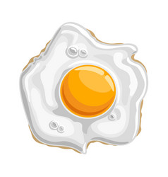 fried shiny chicken egg vector image vector image