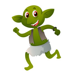 Green elf in old clothes vector