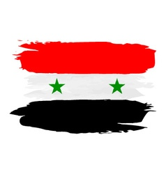 Grunge Flag of Syria vector image
