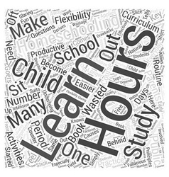 Homeschooling hours dlvy nicheblowercom word cloud vector