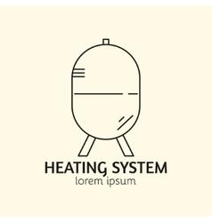 House heating logo template vector