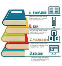 Infographic education book graphic vector