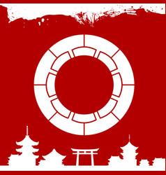 Japanese culture symbolic ornaments vector