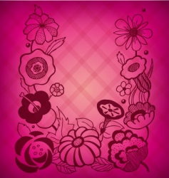 magenta floral background vector image vector image