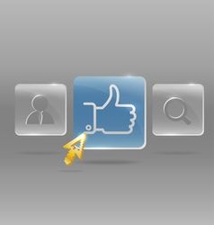 Modern social media menu vector image