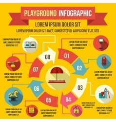 Playground infographic elements flat style vector image