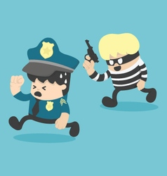 police escapes Thief vector image vector image