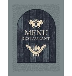 restaurant menu on wooden planks vector image vector image