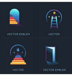 set of abstract concepts and logo design elements vector image vector image