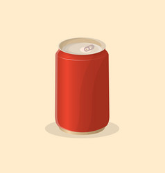 soda in a tin can vector image