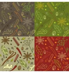 Spices kitchen pattern vector