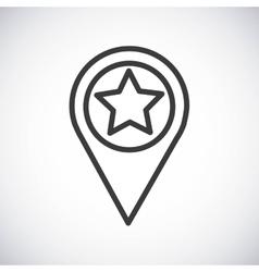 Star button Silhouette icon design vector image