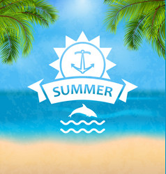 summer template of holidays design and typography vector image vector image