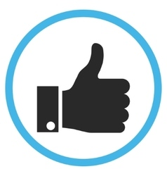 Thumb Up Flat Rounded Icon vector image