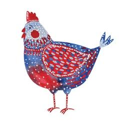 watercolor chicken vector image vector image
