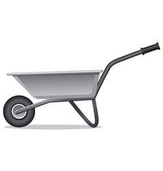 wheelbarrow for gardening vector image vector image