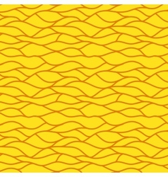 Yellow seamless abstract hand-drawn pattern vector image