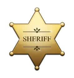 Golden sheriff star vector