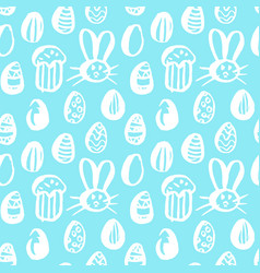 trendy easter seamless pattern vector image