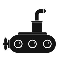 Submarine icon simple vector