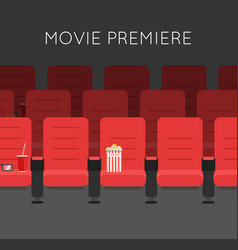 Cinema hall red cinema chairs vector
