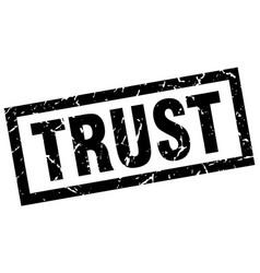 Square grunge black trust stamp vector