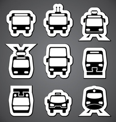 Public transport label vector