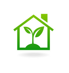 Eco house concept green vector