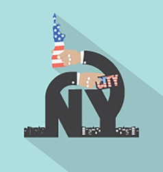 New york city typography design vector