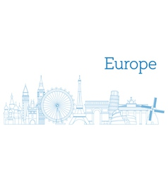 Europe skyline vector