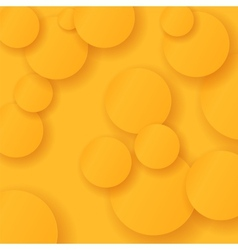 Orange circles background vector