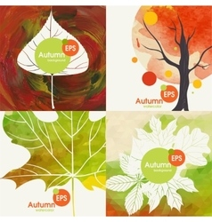 Autumnal background set vector