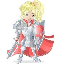 Knight girl vector