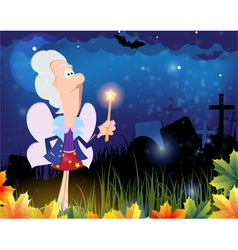 Fairy godmother in the cemetery vector