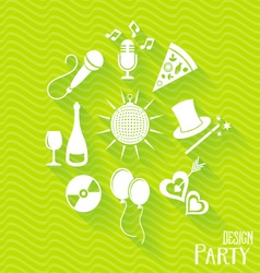 Party and entertainment icons vector