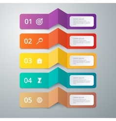 Infographics 5 options vector