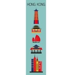 Symbols of hong kong city vector