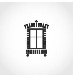 Vintage window icon vector