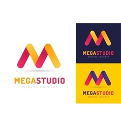 Abstract m letter logo icon template vector