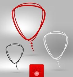 Abstract tubular speech bubbles vector image vector image