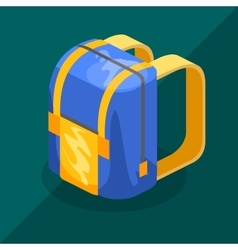 Backpack isometric vector